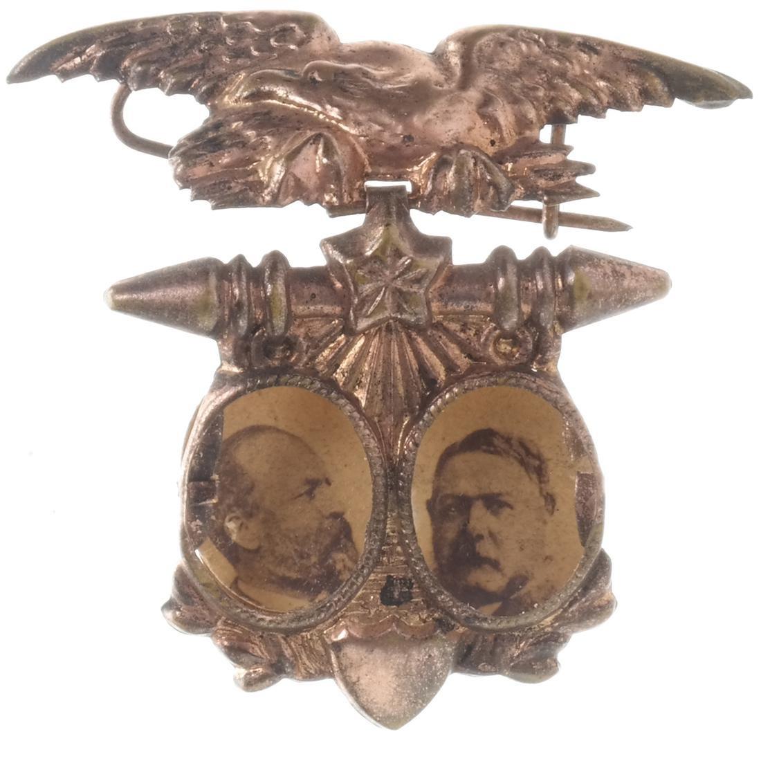 GARFIELD & ARTHUR 1880 JUGATE ALBUMEN BADGE