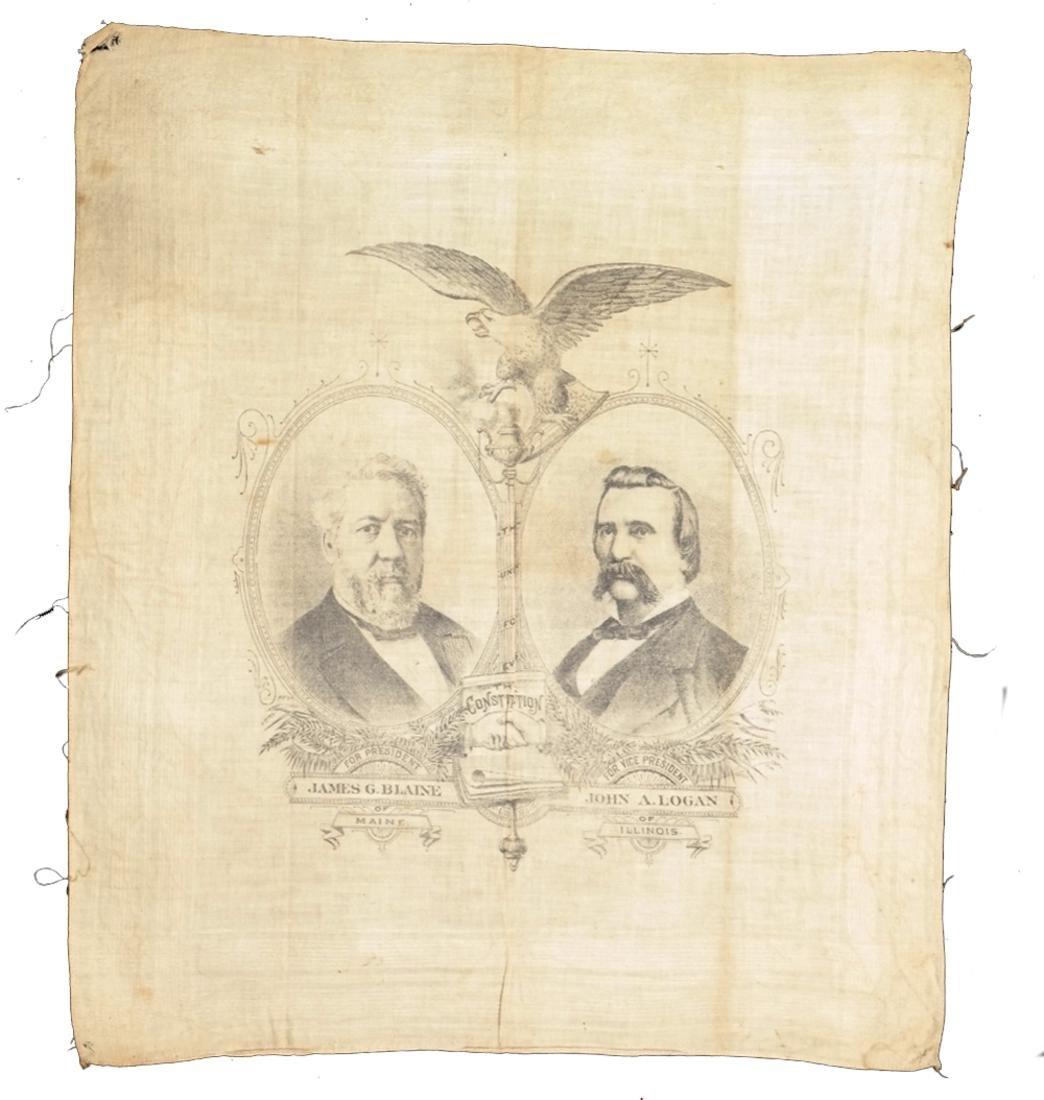 J.G. BLAINE & J.A. LOGAN 1884 PRESIDENTIAL CAMPAIGN