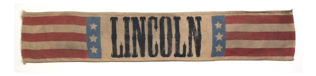 ABRAHAM LINCOLN 1860 PRESIDENTIAL CAMPAIGN BANNER