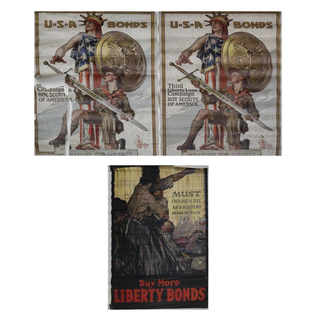 WORLD WAR I HENRY P. RALEIGH & J.C. LEYENDECKER POSTERS