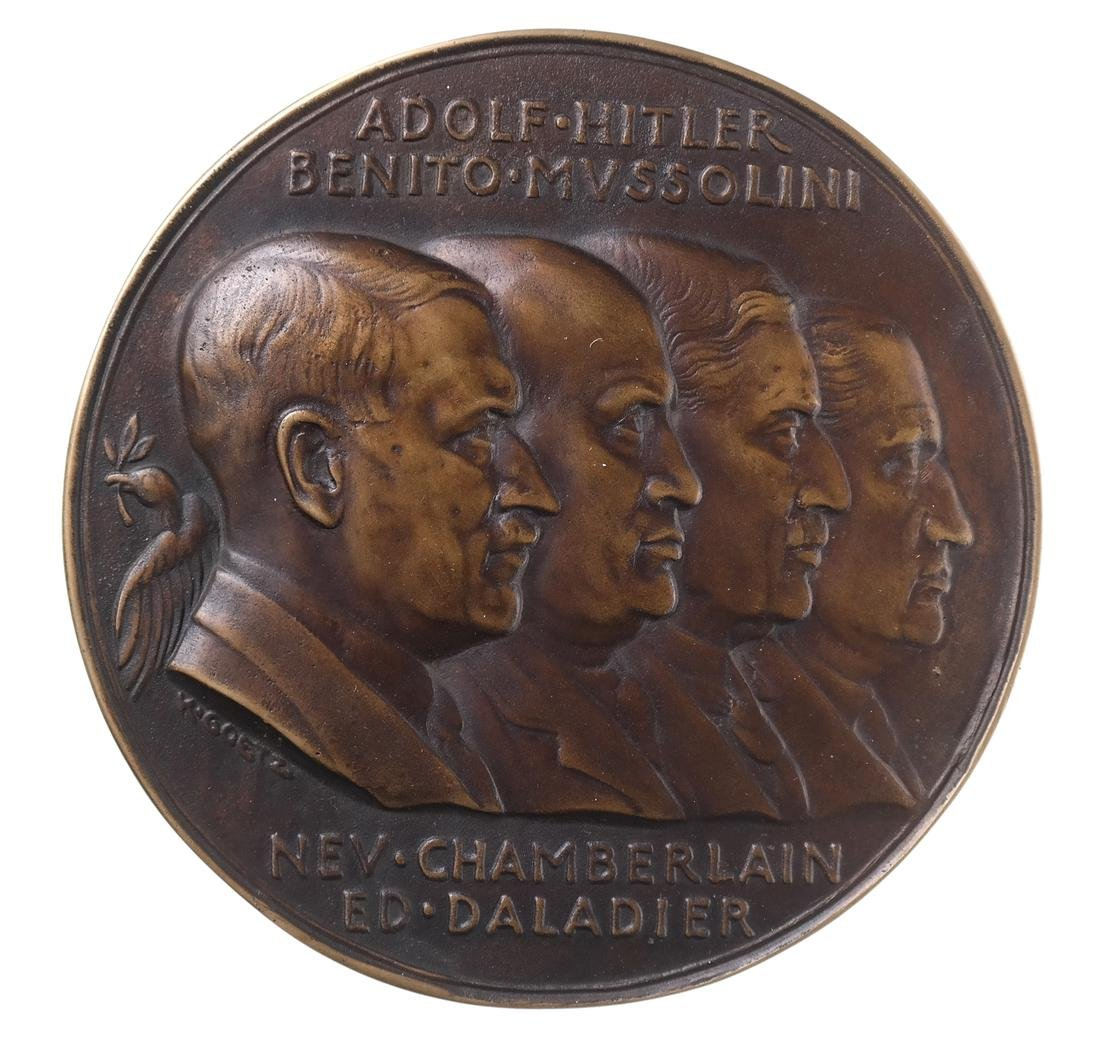 GERMANY. MUNICH AGREEMENT MEDALLION, 1938.