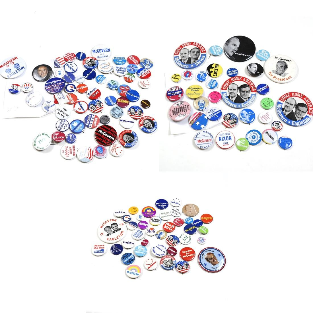 GROUP OF 1976 GEORGE MCGOVERN CAMPAIGN BUTTONS