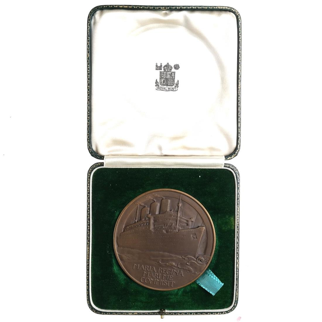GREAT BRITAIN. QUEEN MARY MAIDEN VOYAGE MEDAL, 1936.