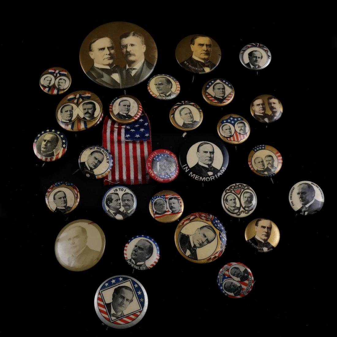 GROUP OF 1896 CAMPAIGN BUTTONS