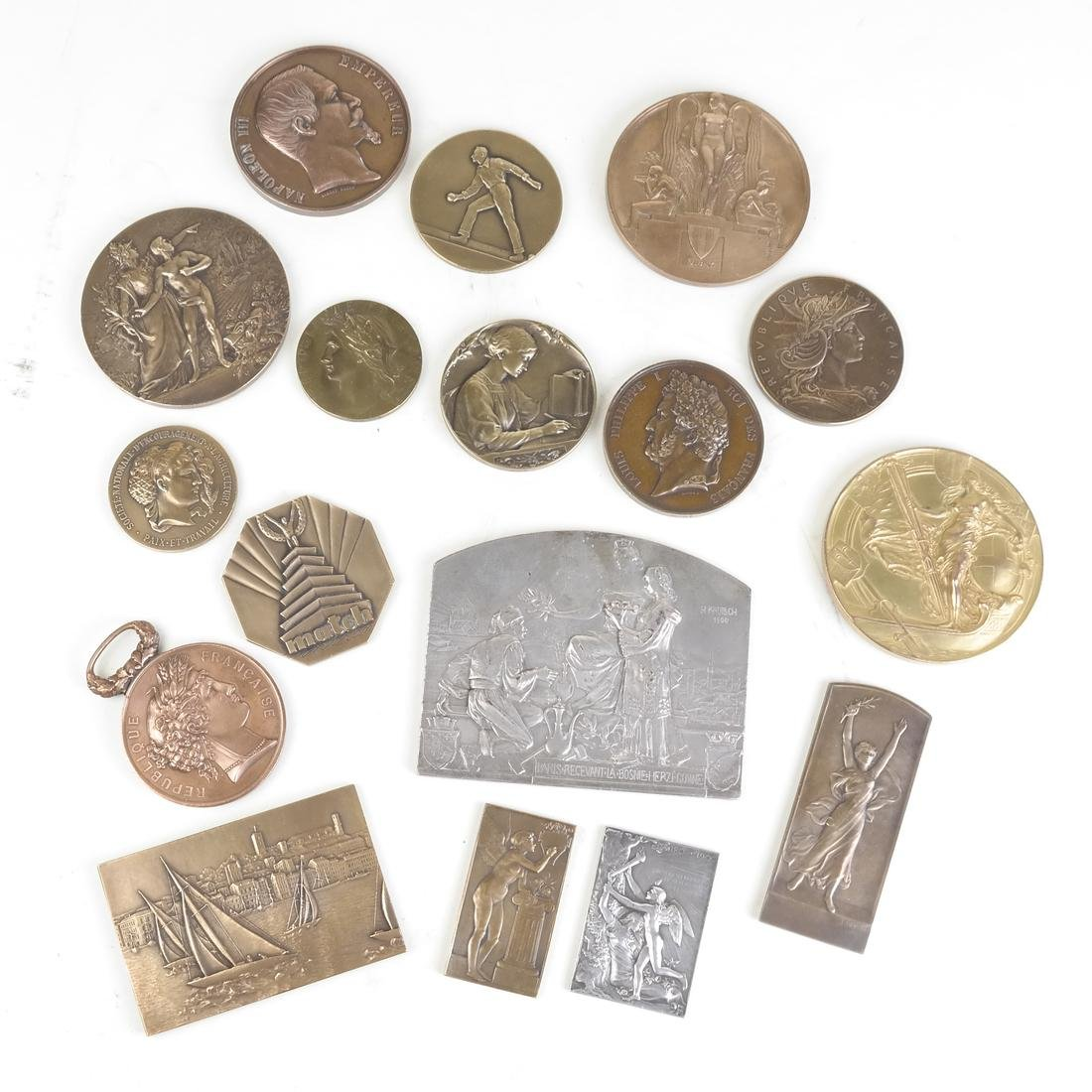 STUDY COLLECTION OF FRENCH AWARD MEDALS AND PLAQUETTES