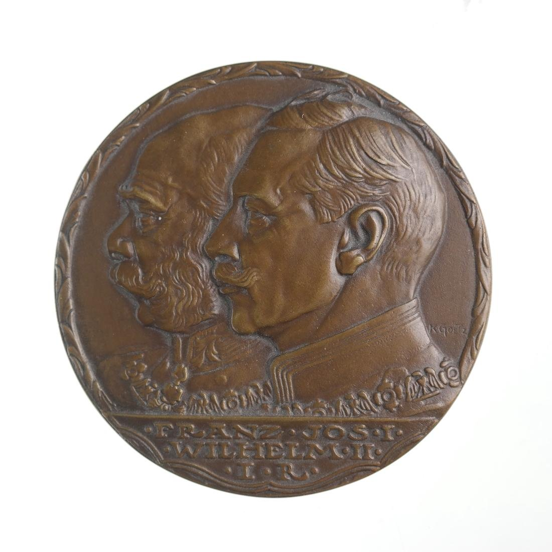 GERMANY. AUSTRO-GERMAN ALLIANCE MEDAL, 1914.
