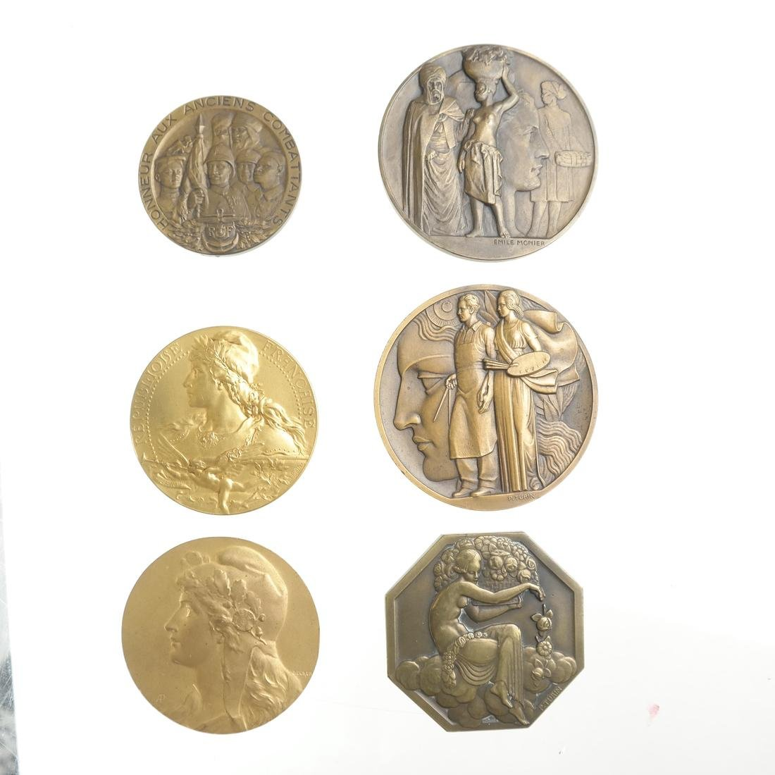 SELECTION OF BRONZE EXPOSITION MEDALS, 1925-1937.