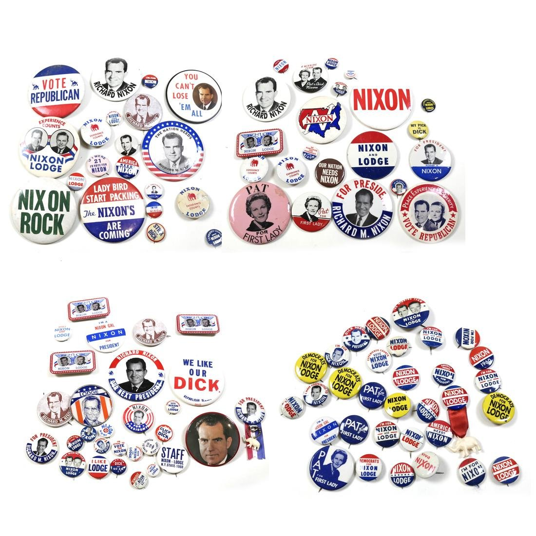 LARGE GROUP OF 1960 NIXON CAMPAIGN BUTTONS