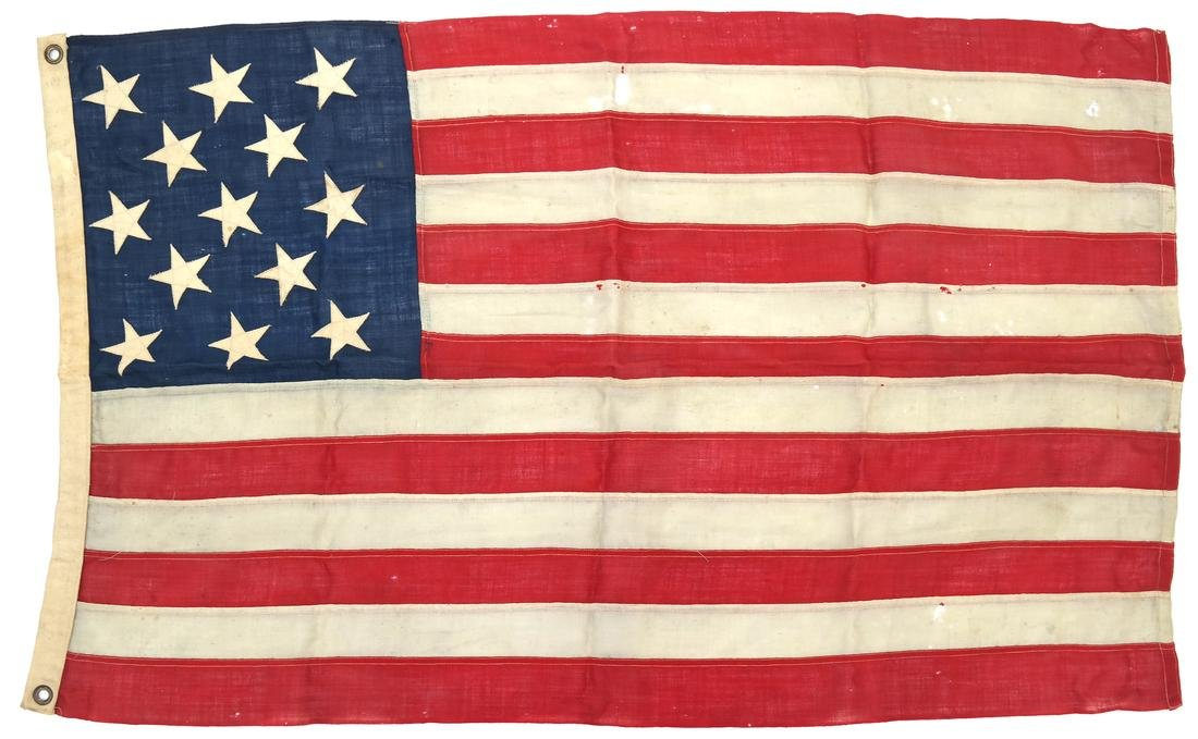 VINTAGE 13 STAR UNITED STATES FLAG