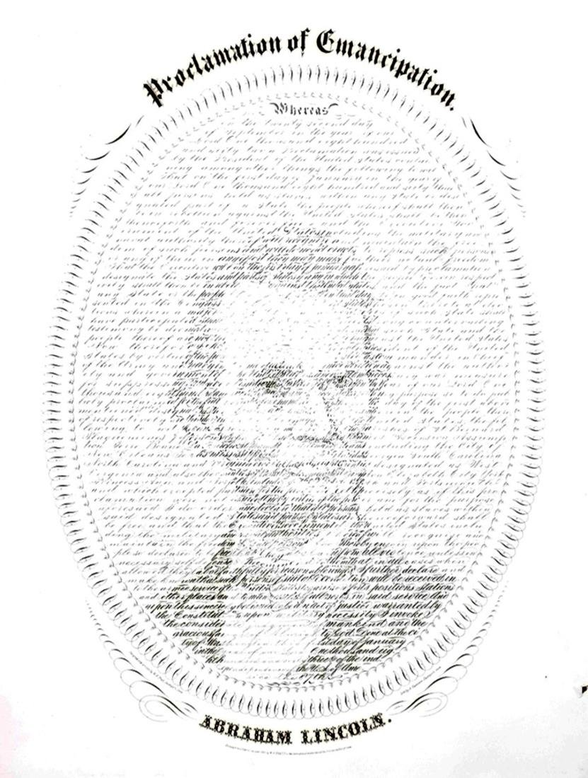 ABRAHAM LINCOLN 1862 CALLIGRAPHY