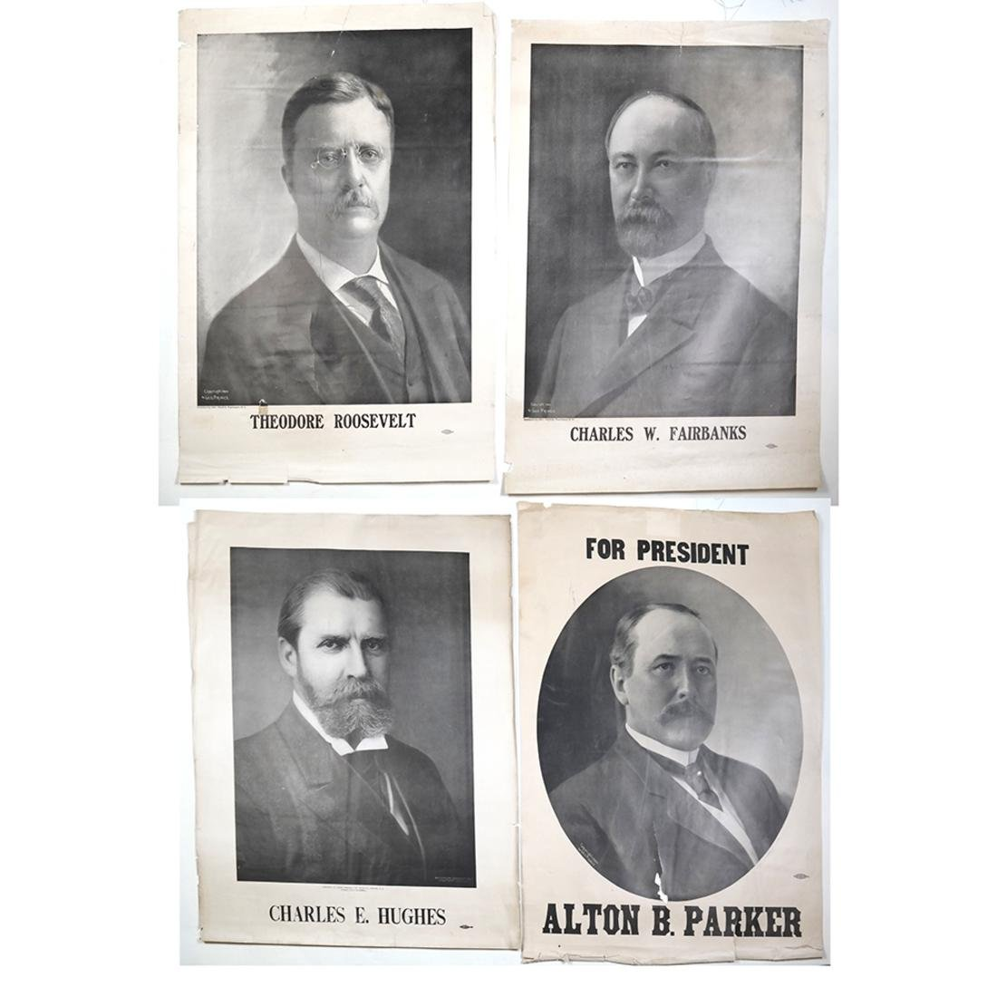 1904 AND 1908 PRESIDENTIAL CAMPAIGN PORTRAIT POSTERS