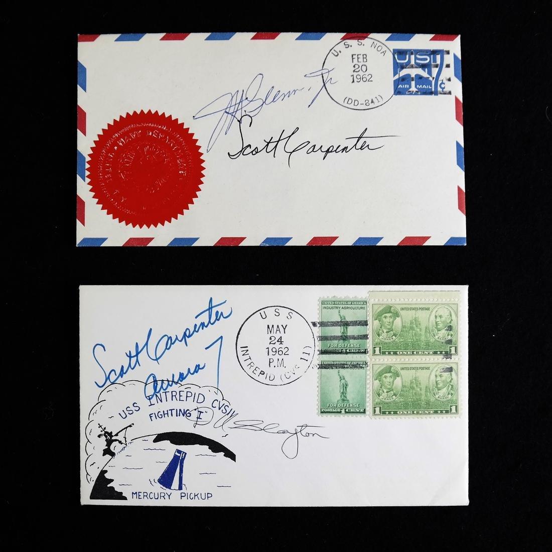 1962 FRIENDSHIP 7 & AURORA 7 CREW SIGNED POSTAL COVERS