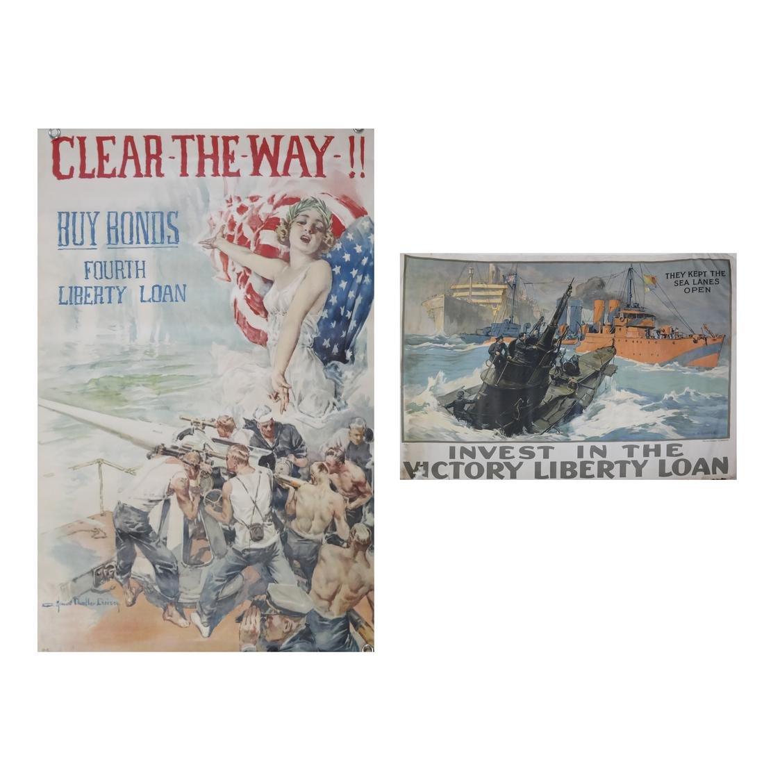 WORLS WAR I U.S. NAVAL THEME POSTERS