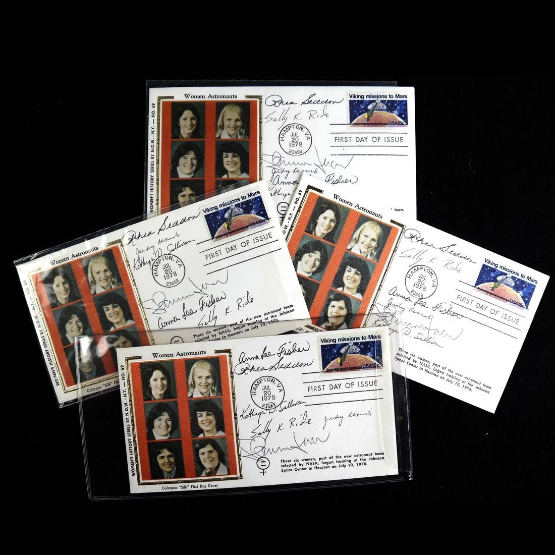 1978 WOMEN ASTRONAUT SIGNED FIRST DAY COVER GROUP