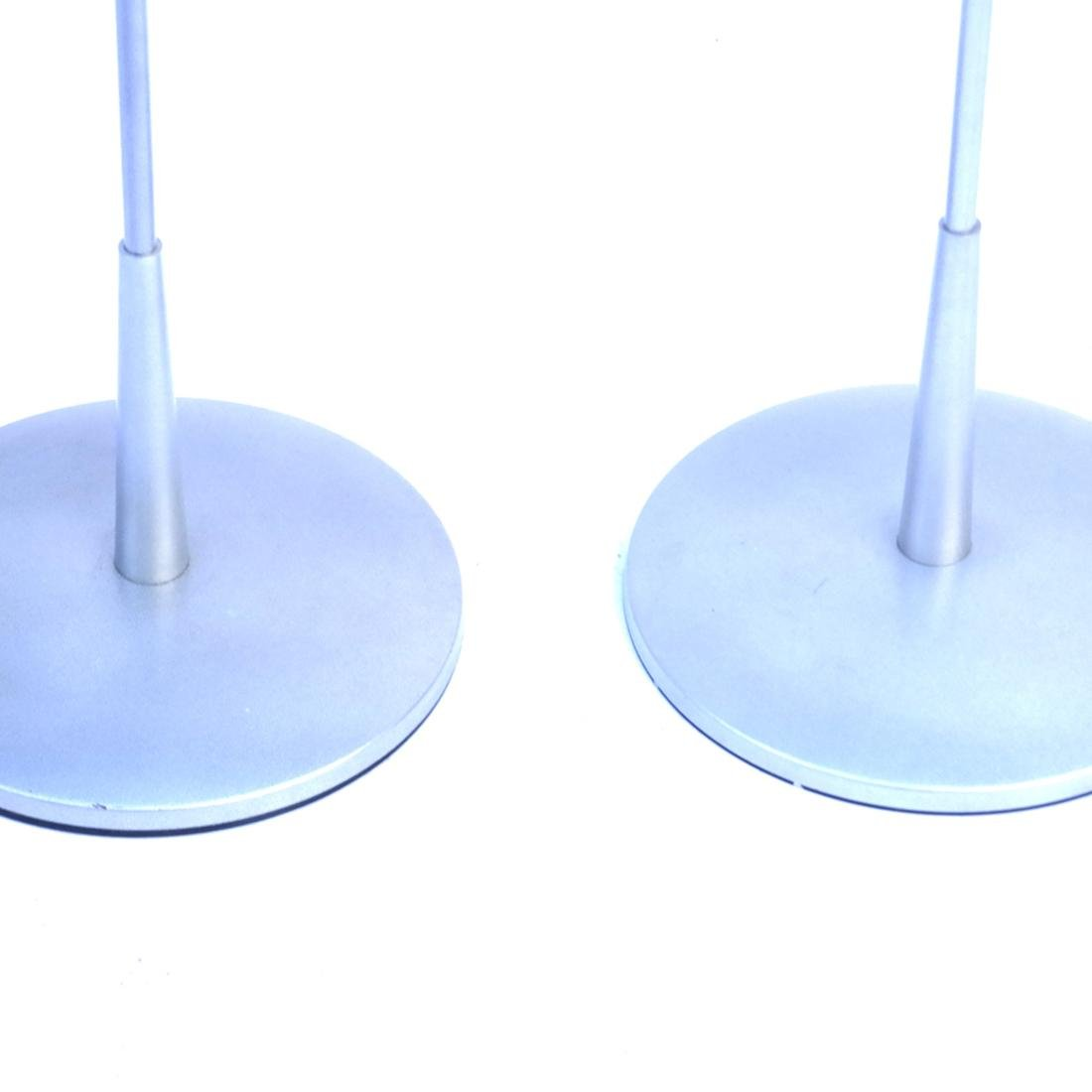 Pair Contemporary Abstract Floor Lamps - 2