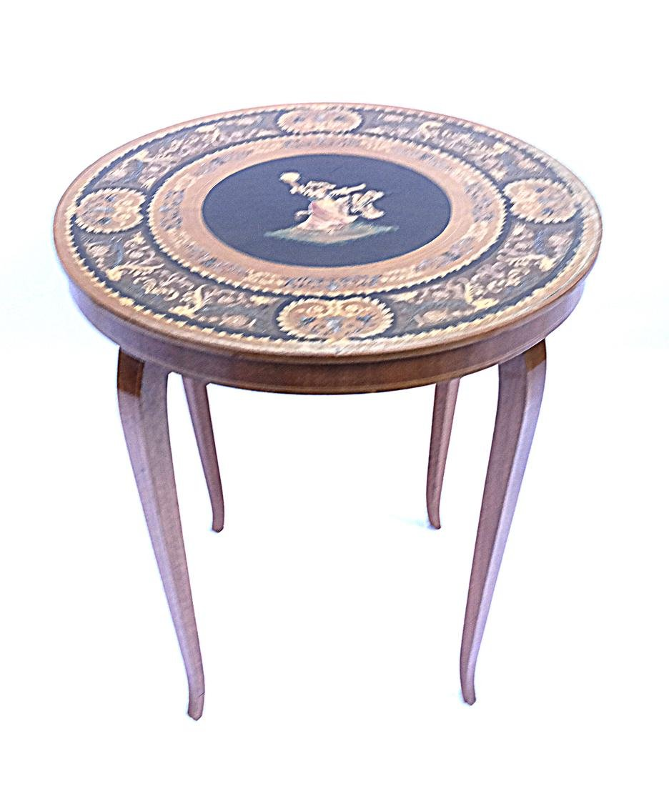 Italian Decorated Circular Table