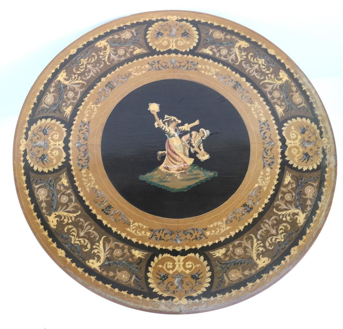 Italian Decorated Circular Table - 2