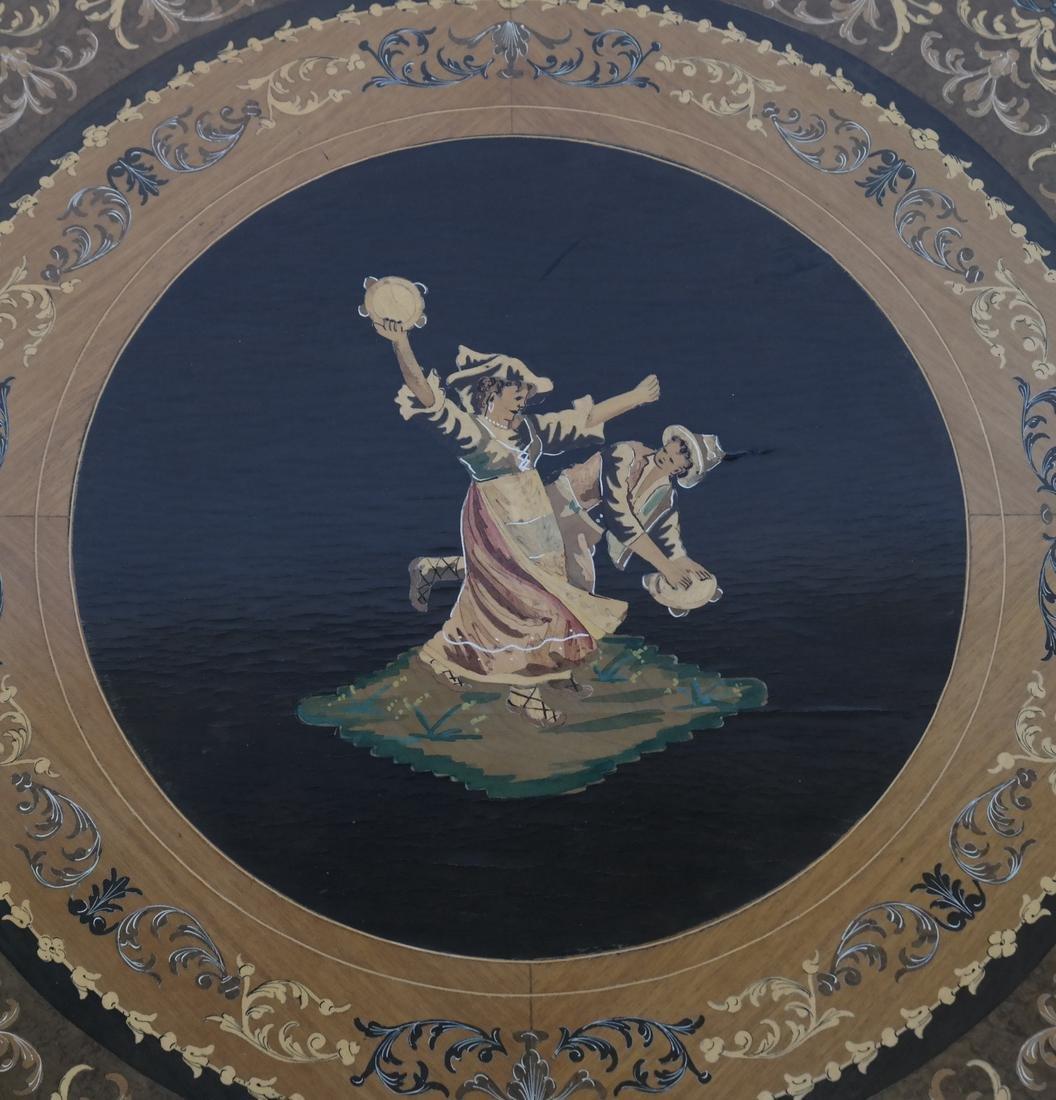 Italian Decorated Circular Table - 3