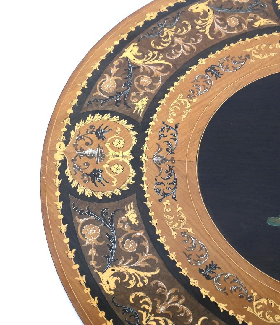 Italian Decorated Circular Table - 4