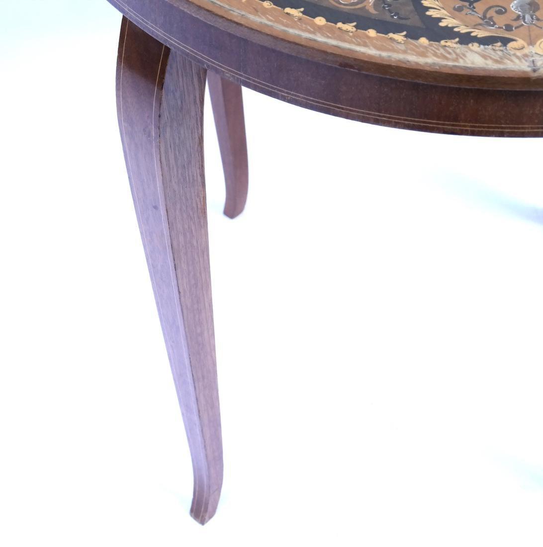 Italian Decorated Circular Table - 5