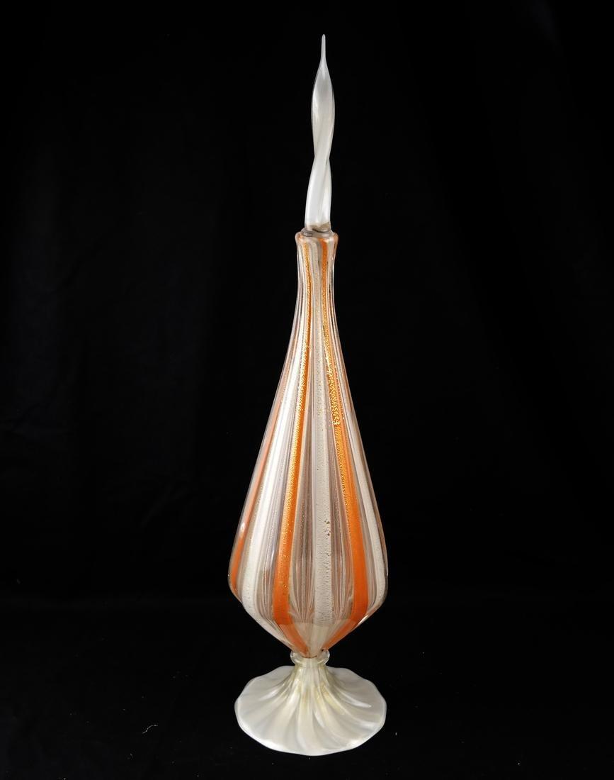 Venini-Style Glass Decanter & Stopper
