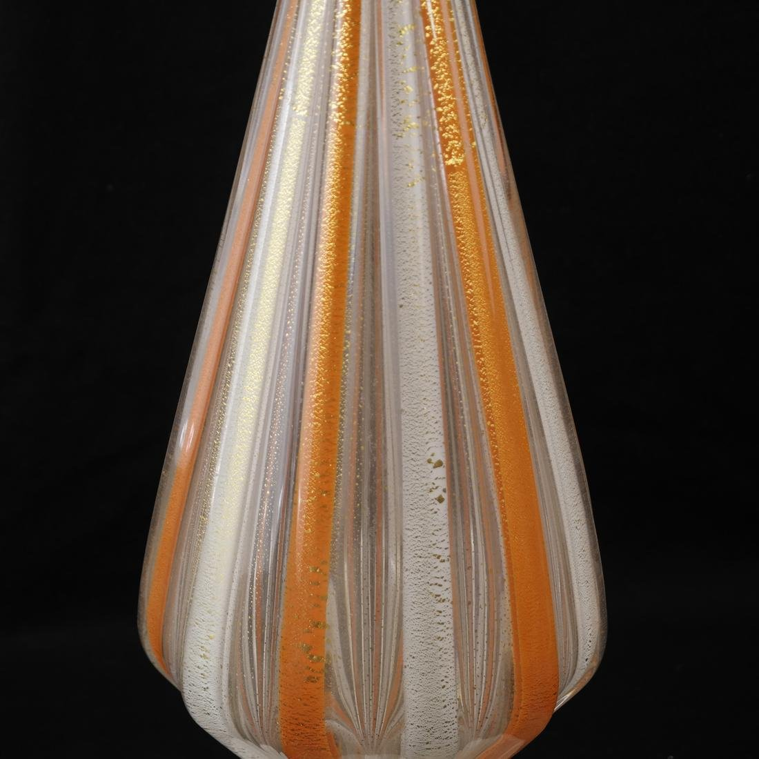 Venini-Style Glass Decanter & Stopper - 3