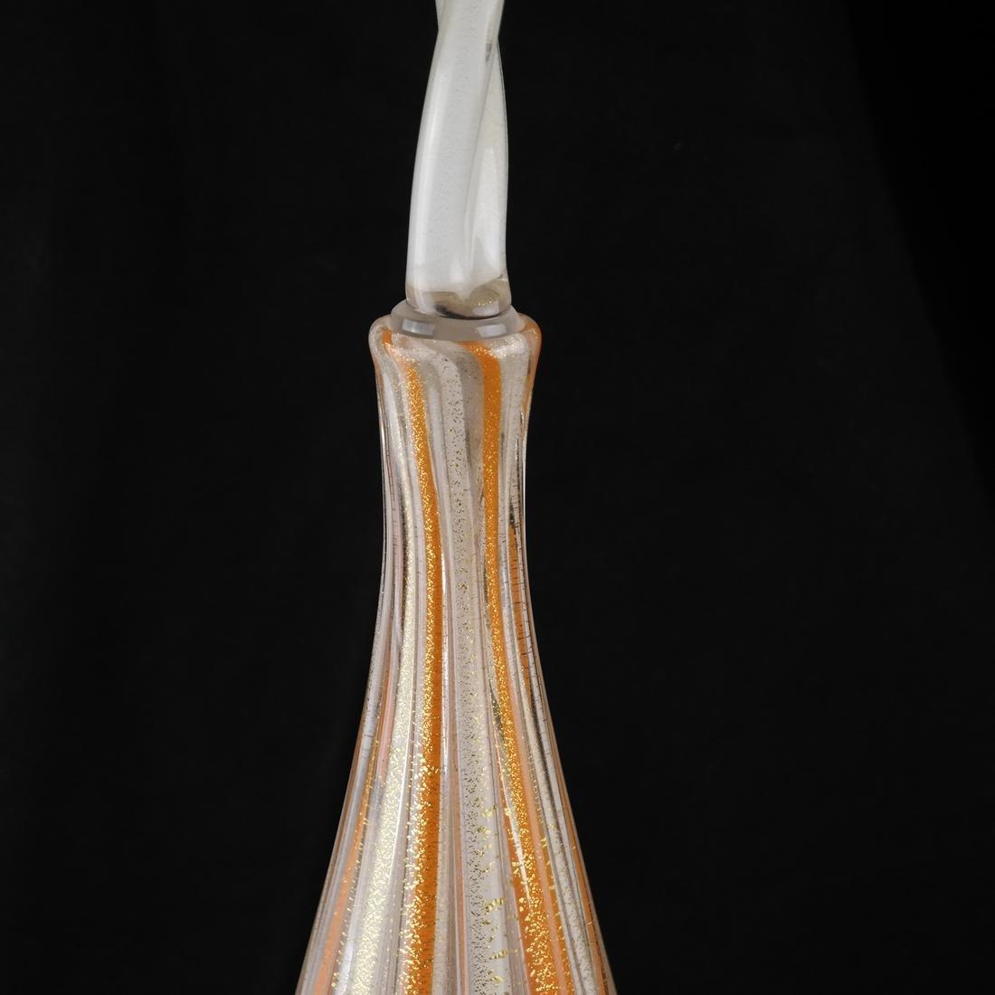 Venini-Style Glass Decanter & Stopper - 4
