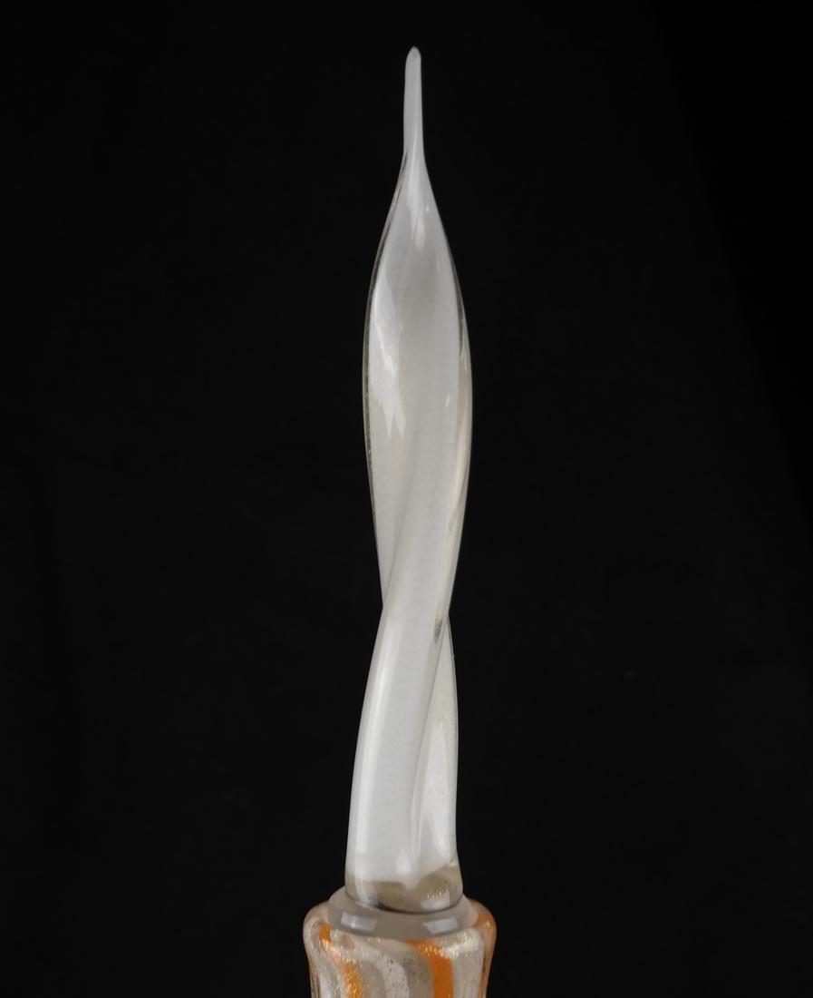 Venini-Style Glass Decanter & Stopper - 5