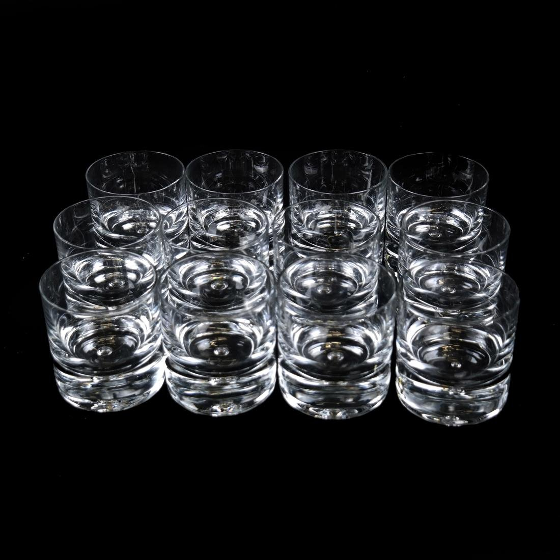 Twelve Steuben-manner Rocks Glasses