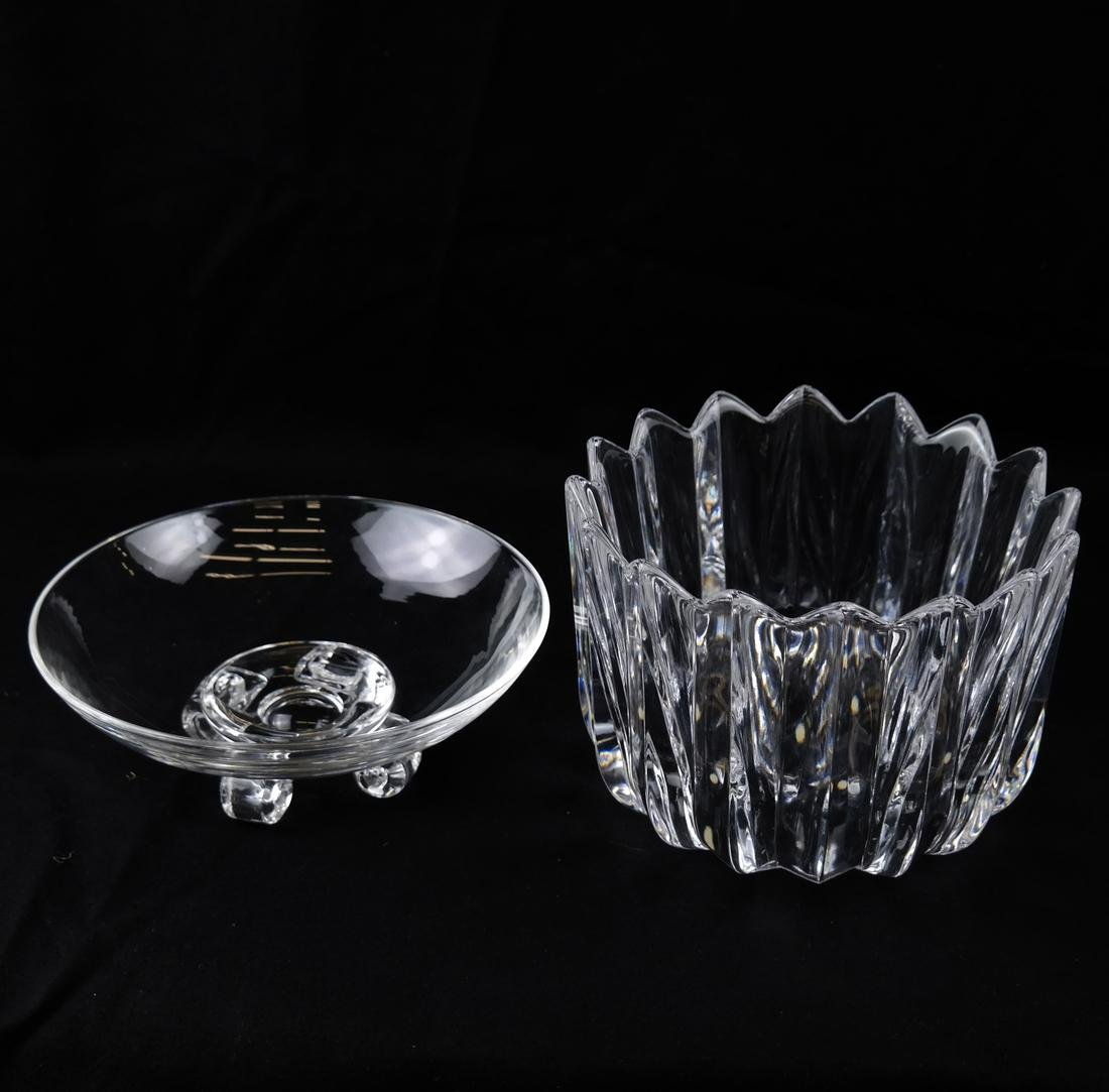 Two Crystal Vessels, Orrefors and Steuben