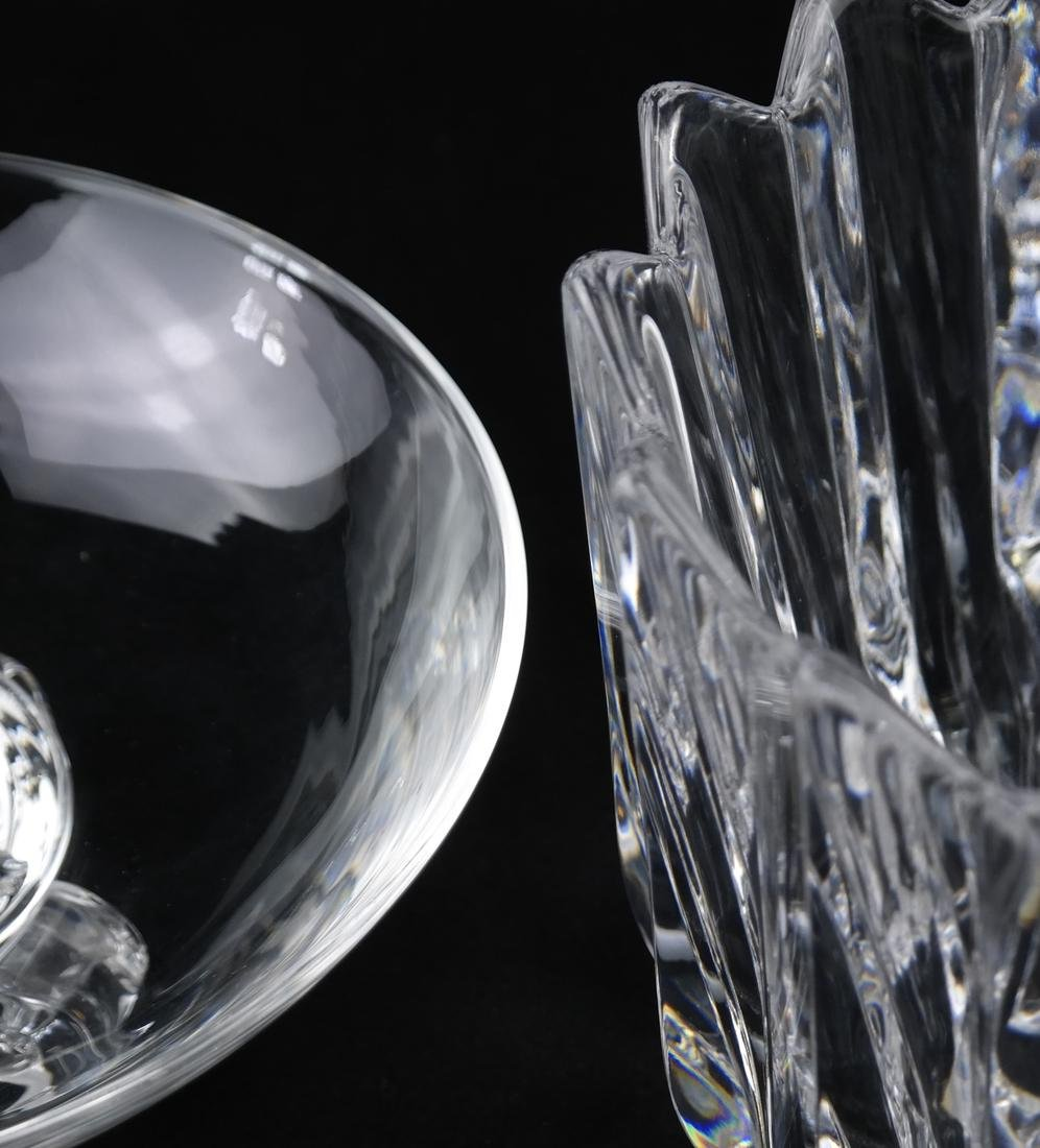 Two Crystal Vessels, Orrefors and Steuben - 2