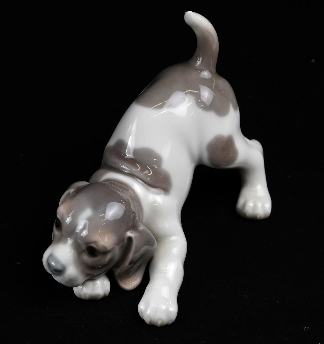 Two Lladro Sculptures - Dog and Woman - 2