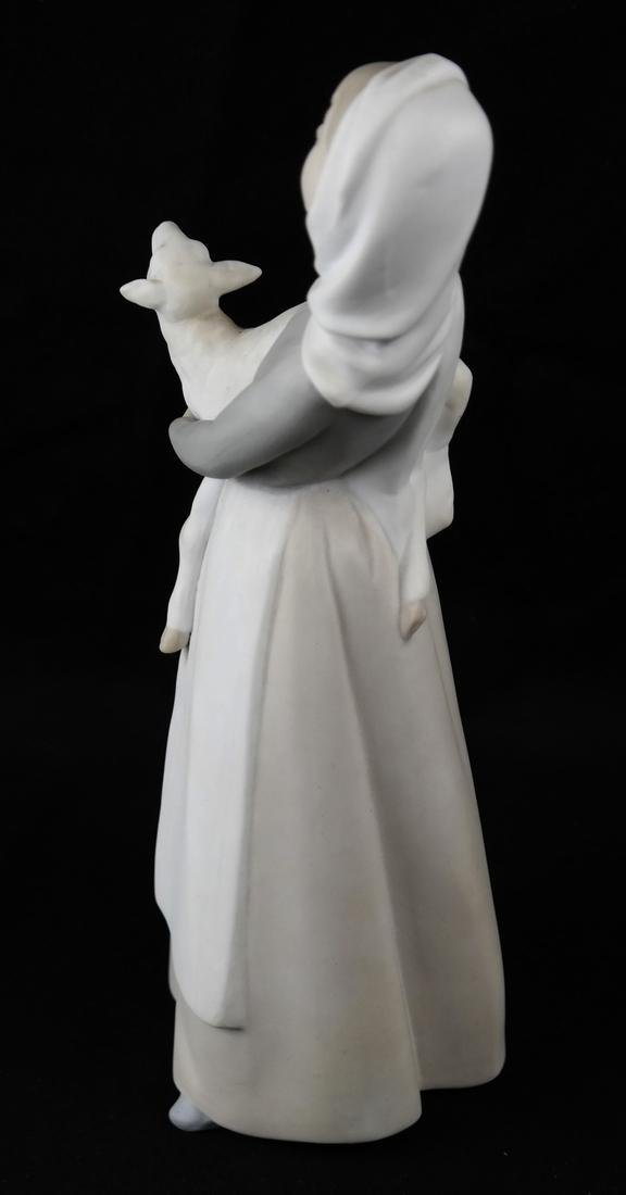 Two Lladro Sculptures - Dog and Woman - 7