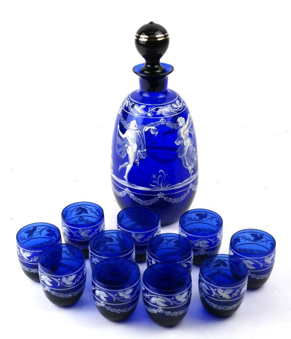 Twelve Pieces Cobalt Blue Liquor Set