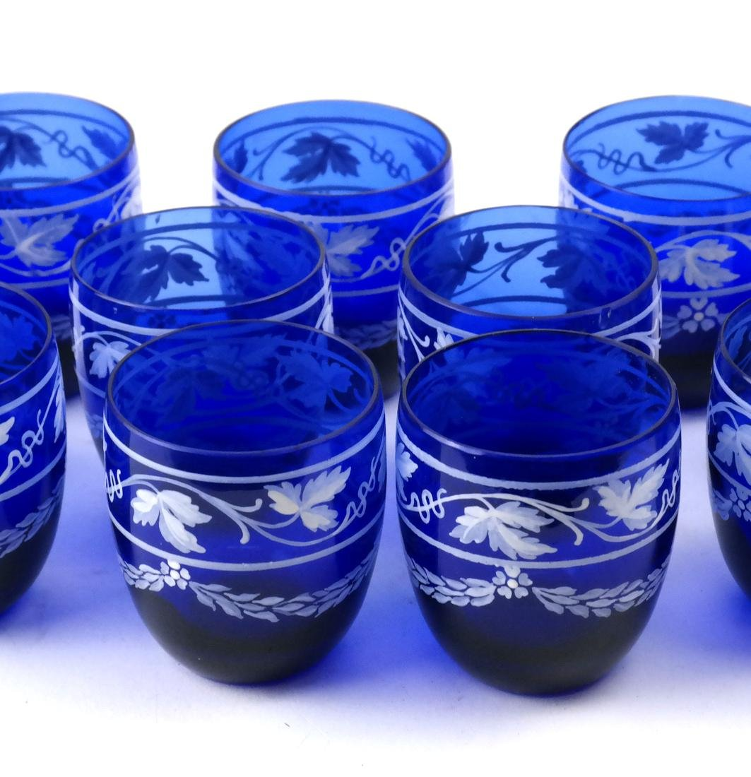 Twelve Pieces Cobalt Blue Liquor Set - 5