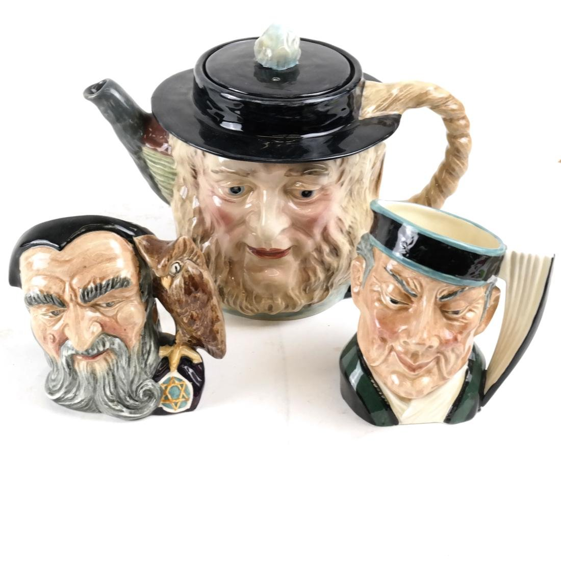Beswick Royal Doulton Toby Mugs and Pitcher