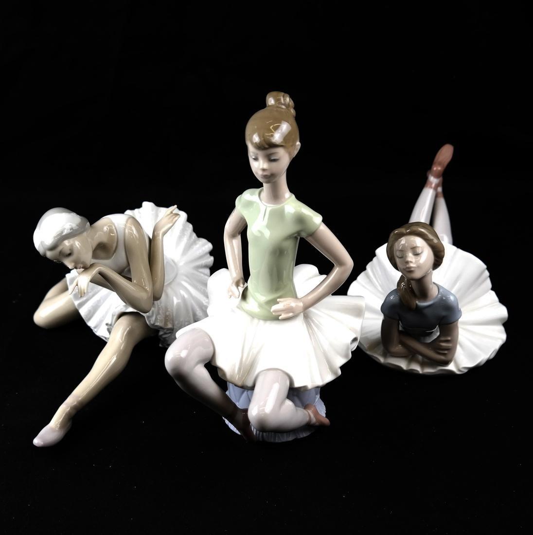 Three Lladro Figurines of Ballerinas