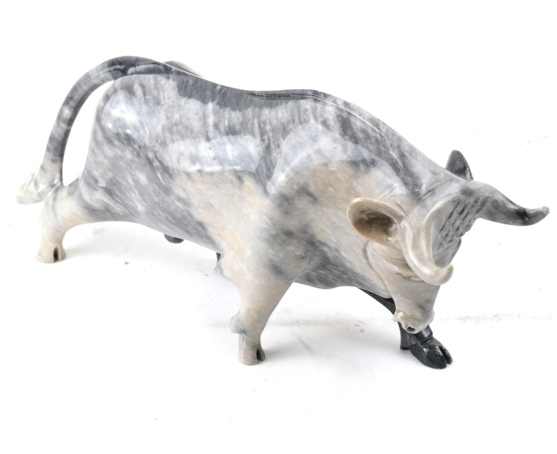 Marble Sculpture of a Bull