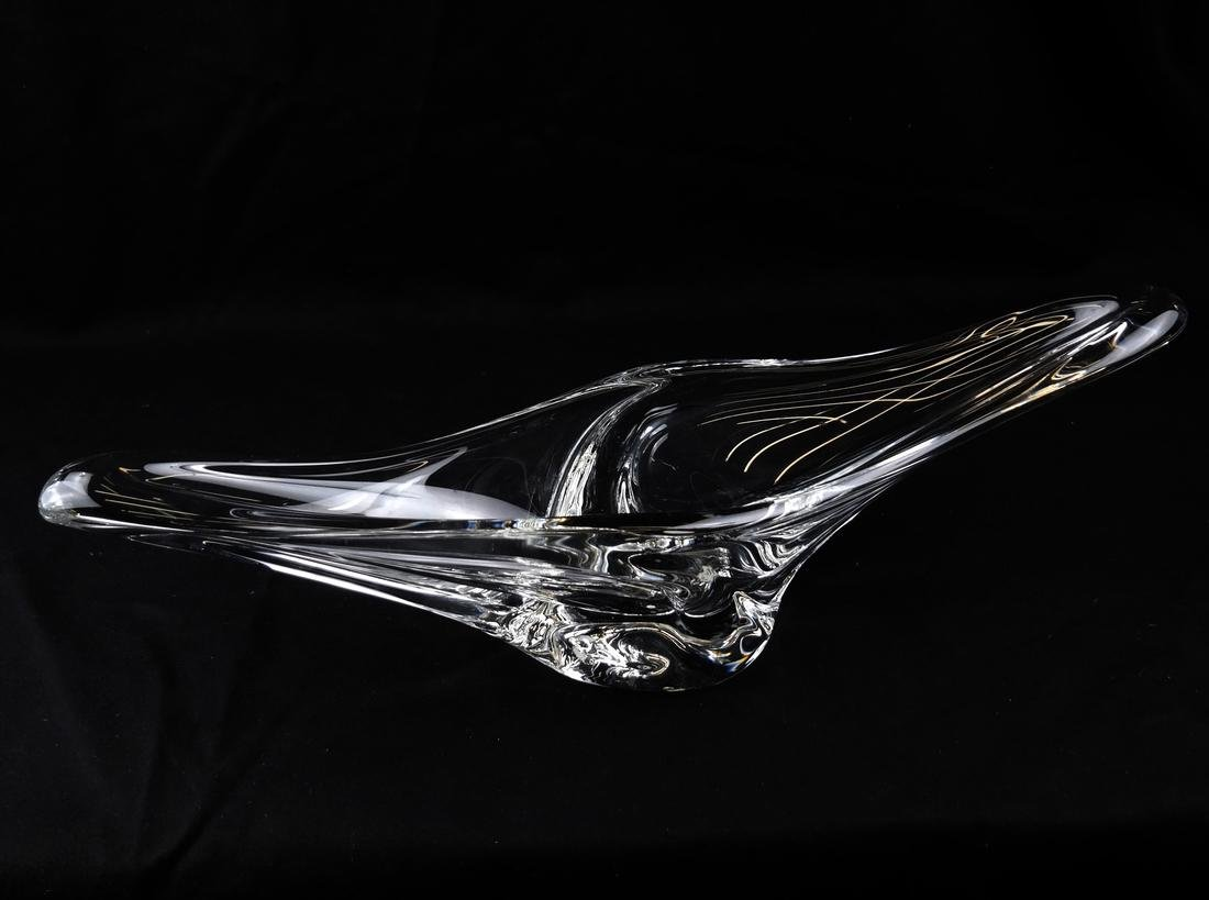 Daum, France Crystal Abstract Clear Bowl