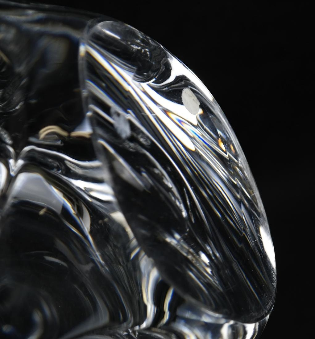 Daum, France Crystal Abstract Clear Bowl - 5