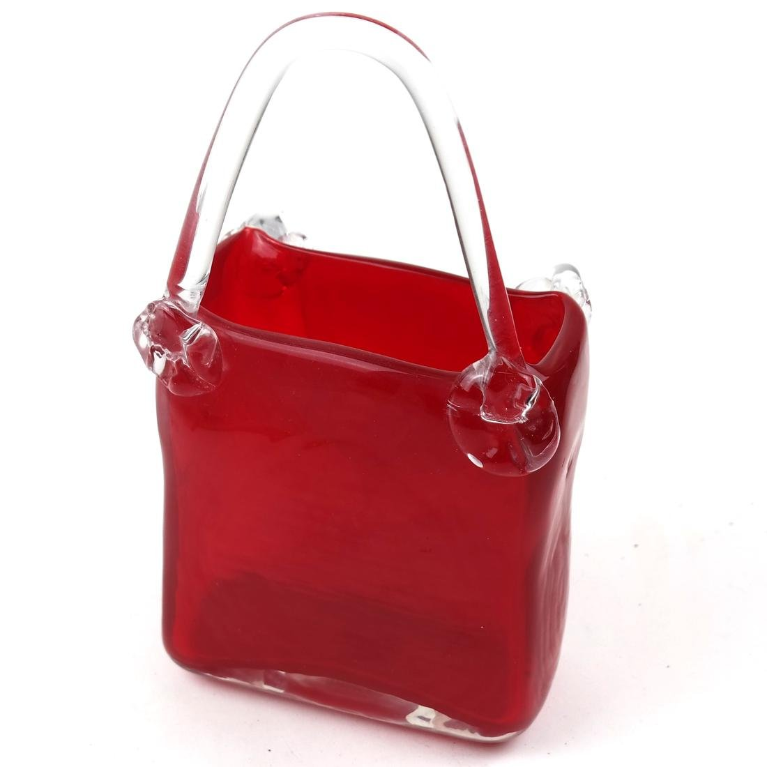 Red and Clear Crystal Pocketbook by Fifth Ave Crystal