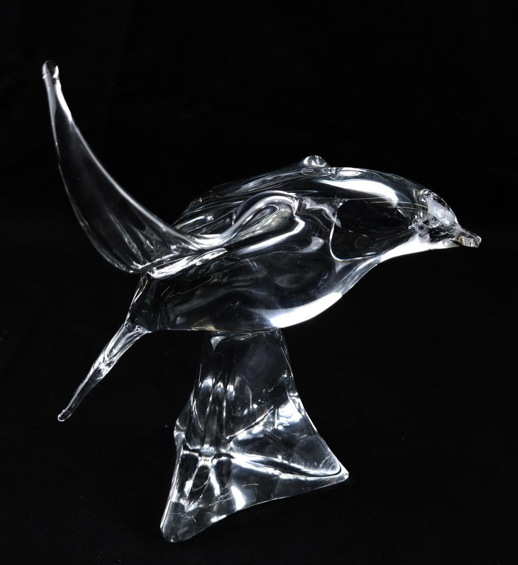 Clear Crystal Sculpture of Seagull - 3