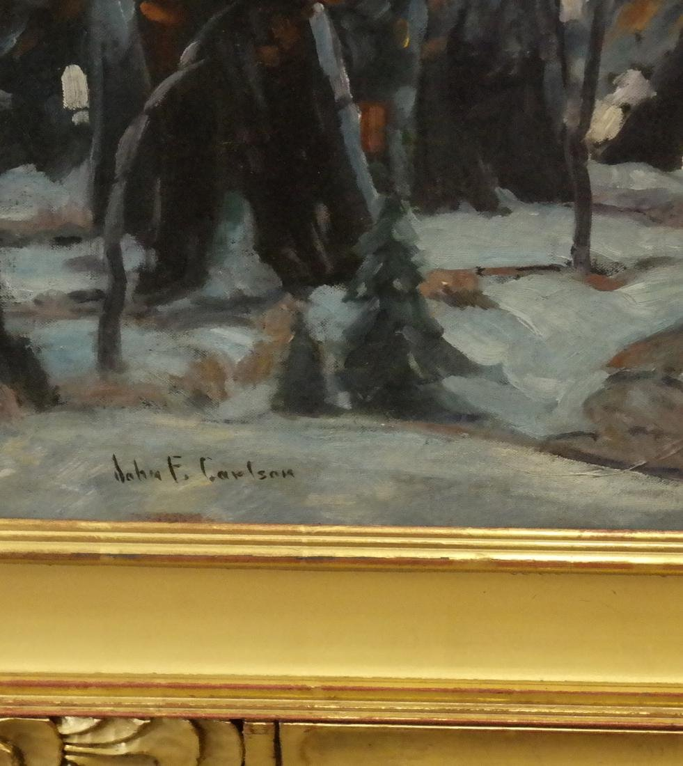 """John F. Carlson, """"Winter's Glow"""" - Oil on Board - 3"""