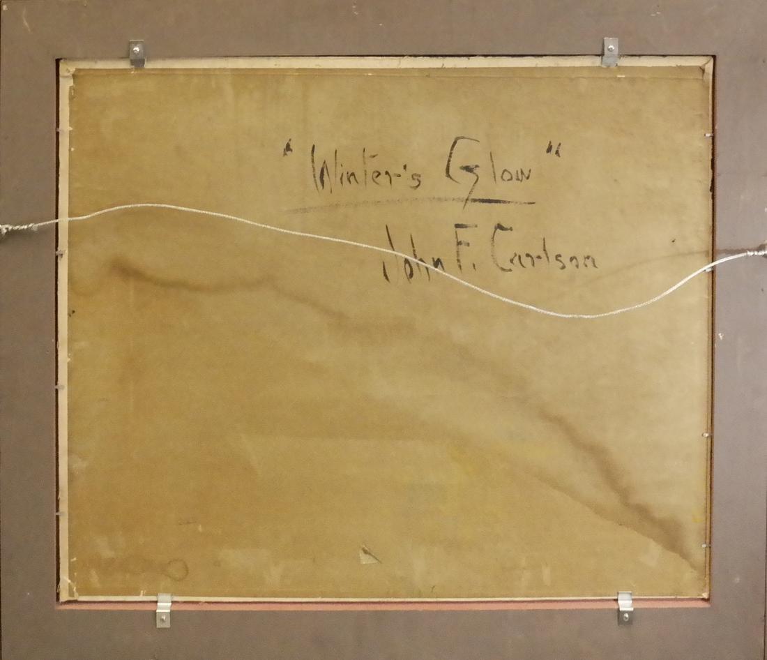 """John F. Carlson, """"Winter's Glow"""" - Oil on Board - 6"""