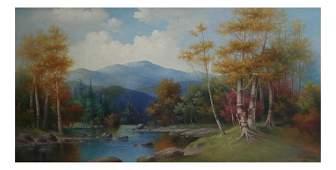 George McConnell Landscape Oil on Panel