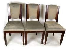 Set of Six Art Deco Side Chairs