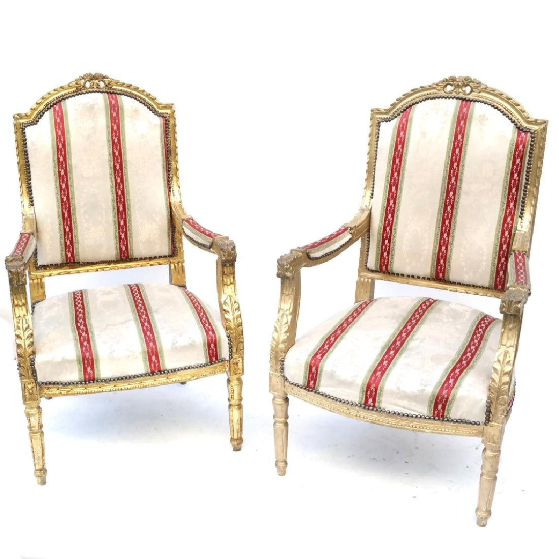 Pair of Louis XVI-Style Armchairs