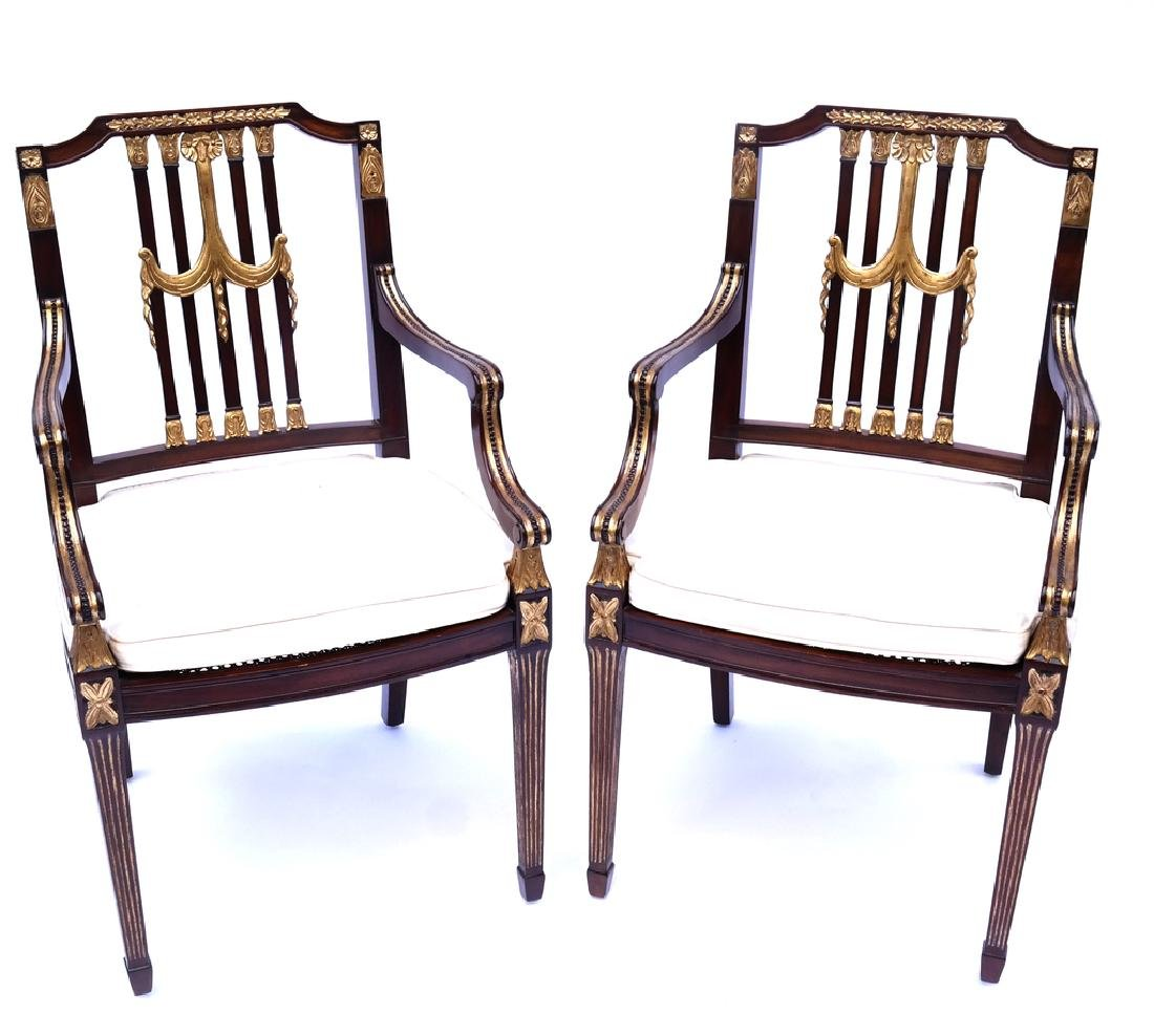 Pair of Directoire Open Armchairs