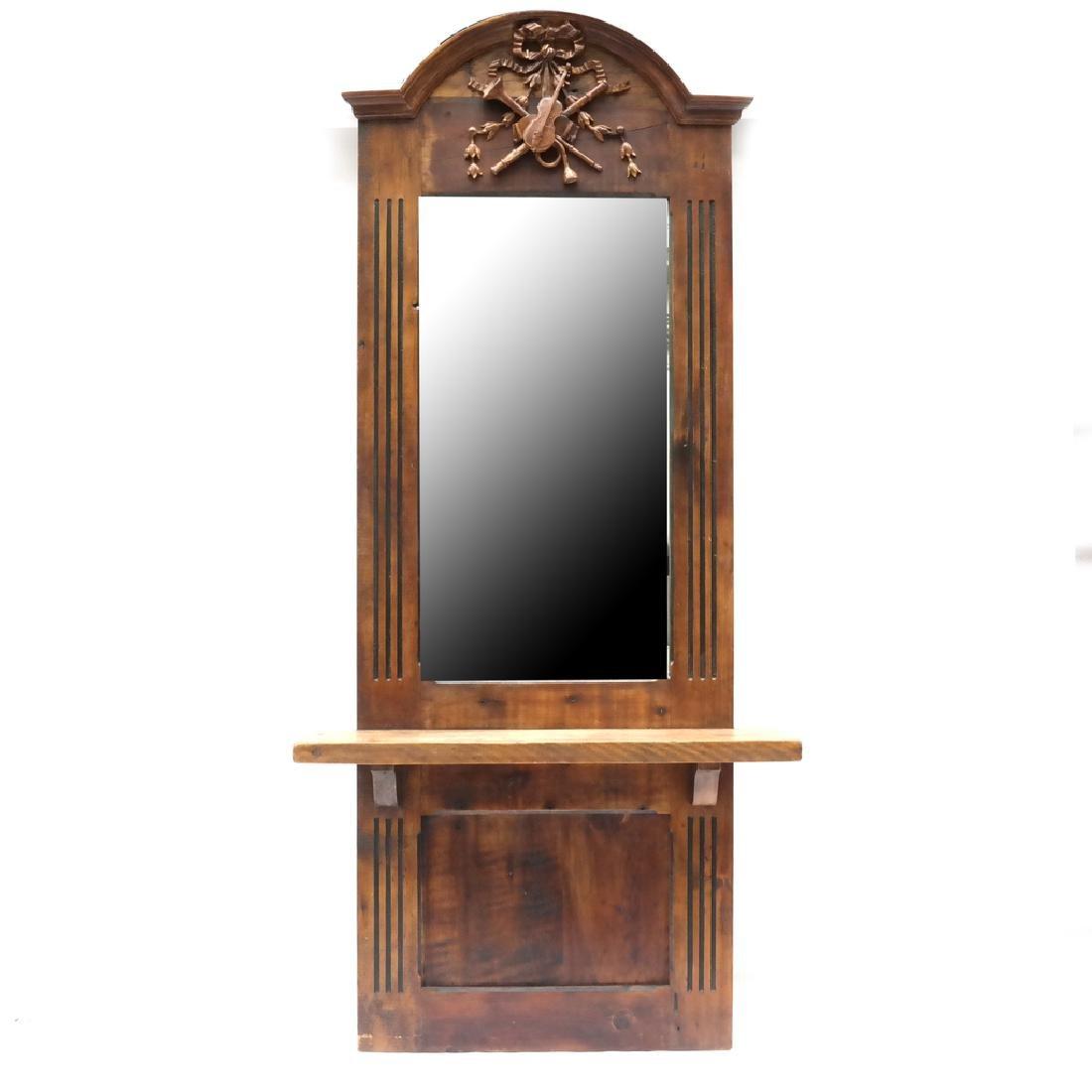 Oak Pier-Style Mirror