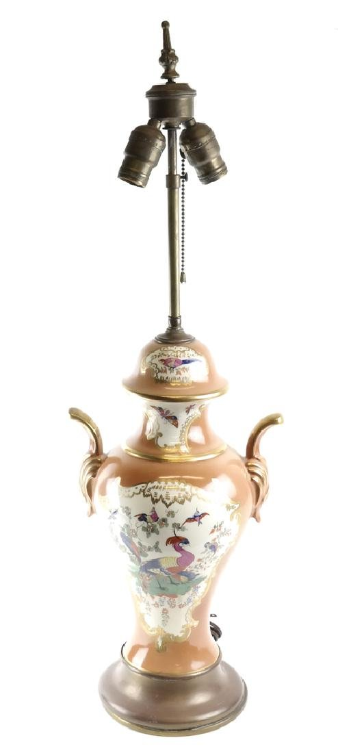 Decorated Porcelain Lamp